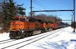 BNSF 6803, 5222 on CSX train K044